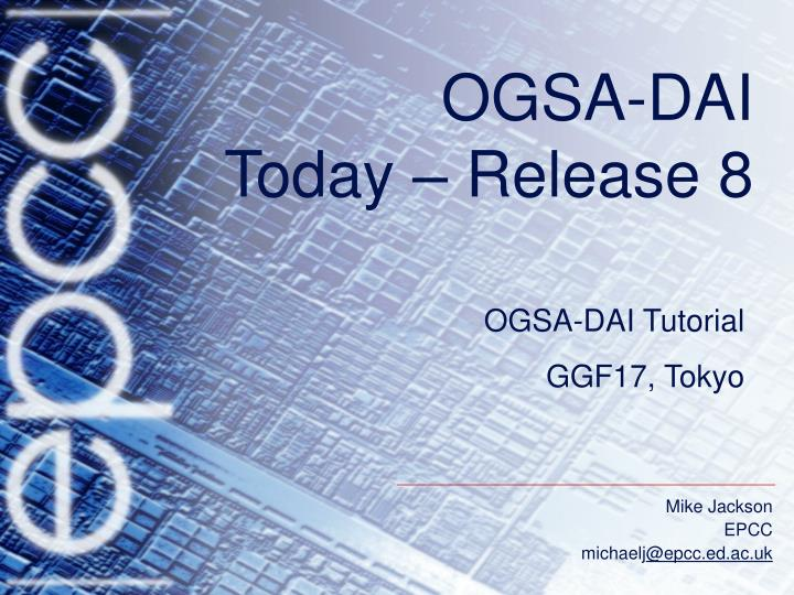 Ogsa dai today release 8
