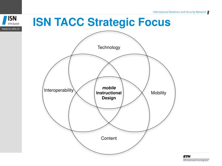 ISN TACC Strategic Focus
