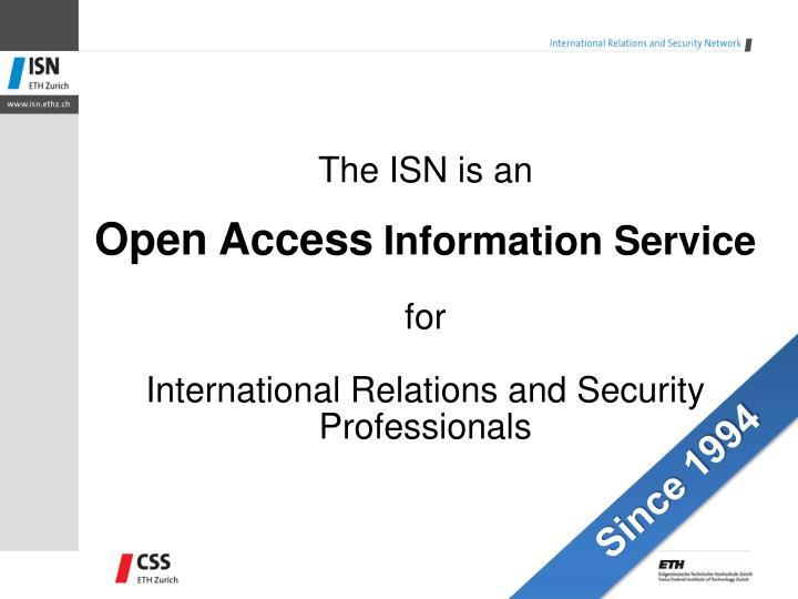 The ISN