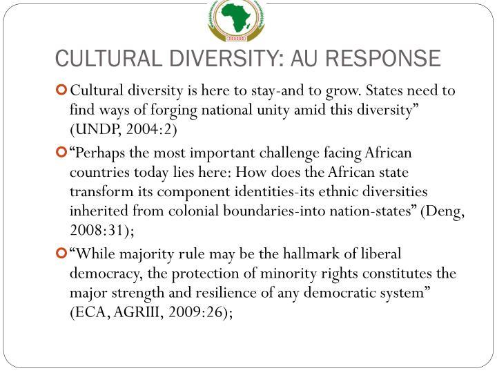 CULTURAL DIVERSITY: AU