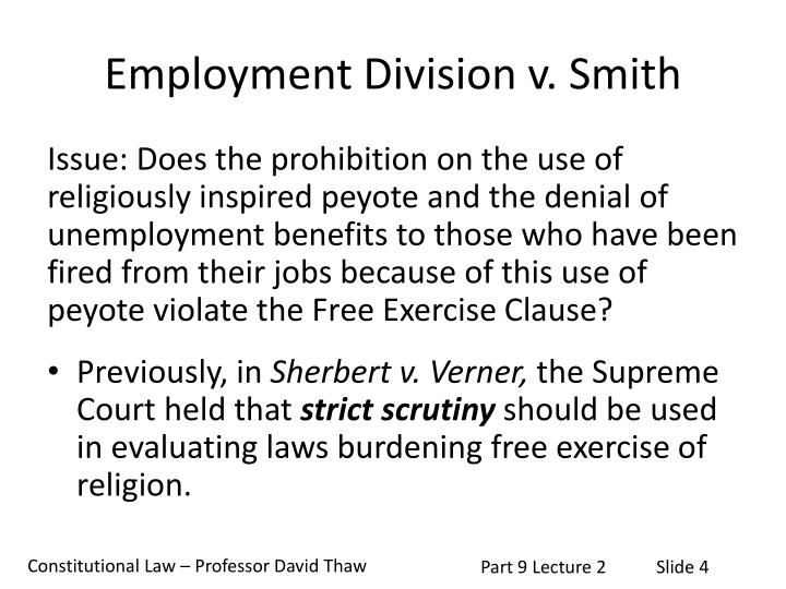 Employment Division v. Smith