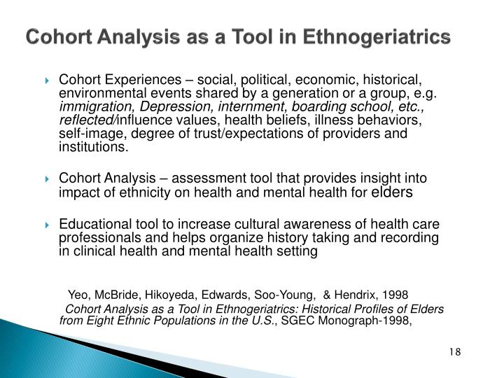 Cohort Analysis as a Tool in