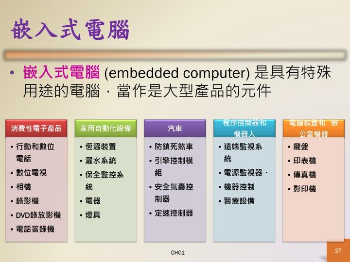 嵌入式電腦