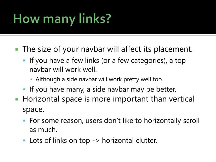 How many links?
