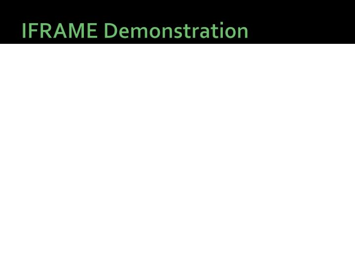 IFRAME Demonstration