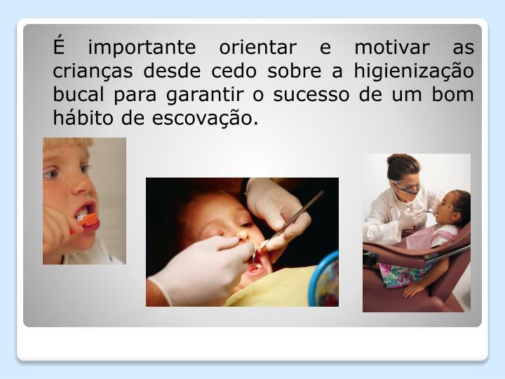 É importante orientar e motivar as crianças desde cedo sobre a higienização bucal para garantir o sucesso de um bom hábito de escovação.