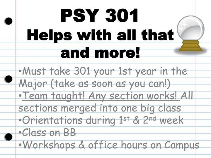PSY 301
