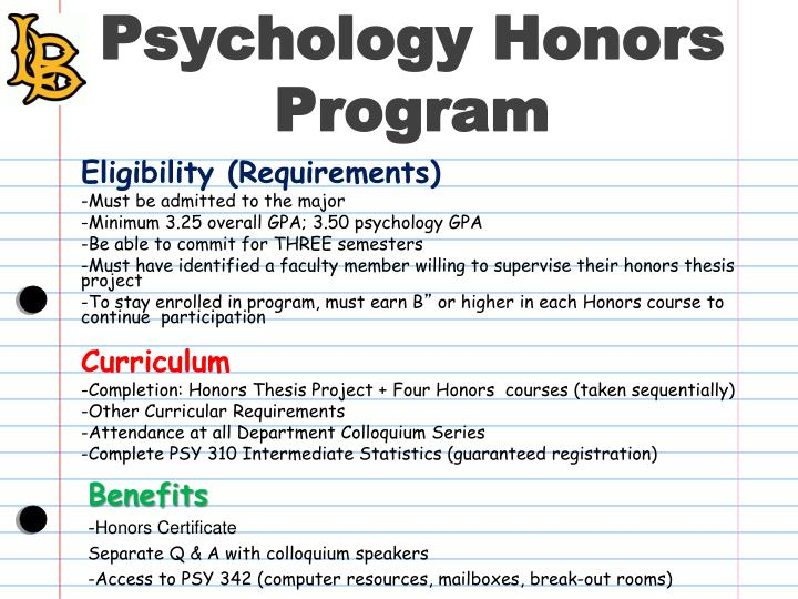 Psychology Honors Program