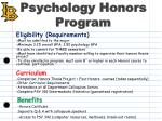 psychology honors program