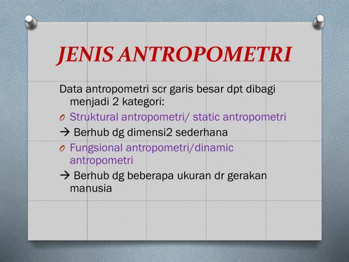 JENIS ANTROPOMETRI