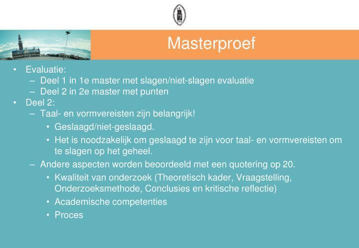 Masterproef