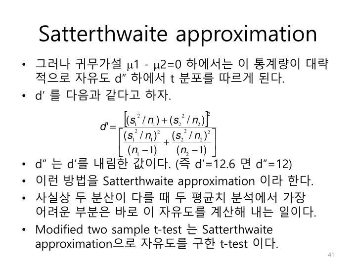 Satterthwaite