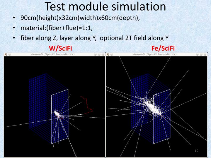 Test module simulation
