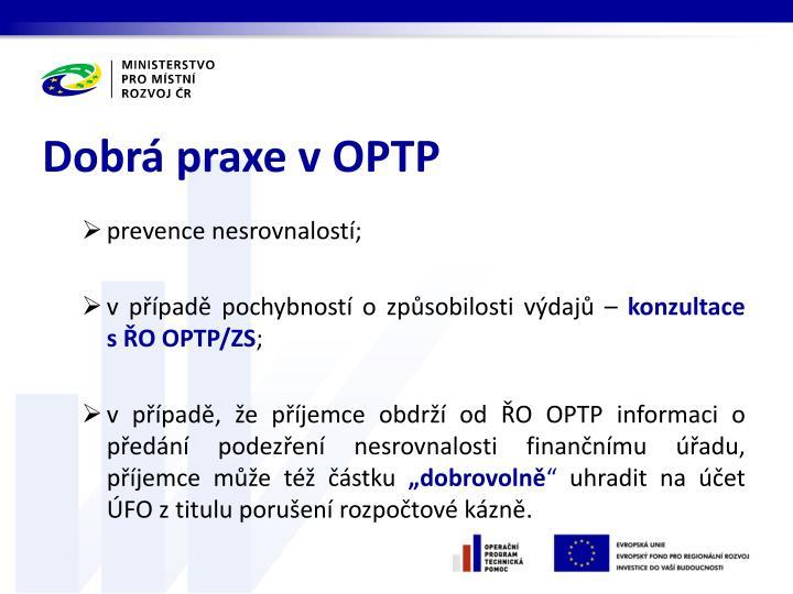Dobrá praxe v OPTP