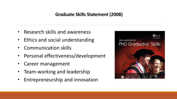 Graduate Skills Statement (2008)