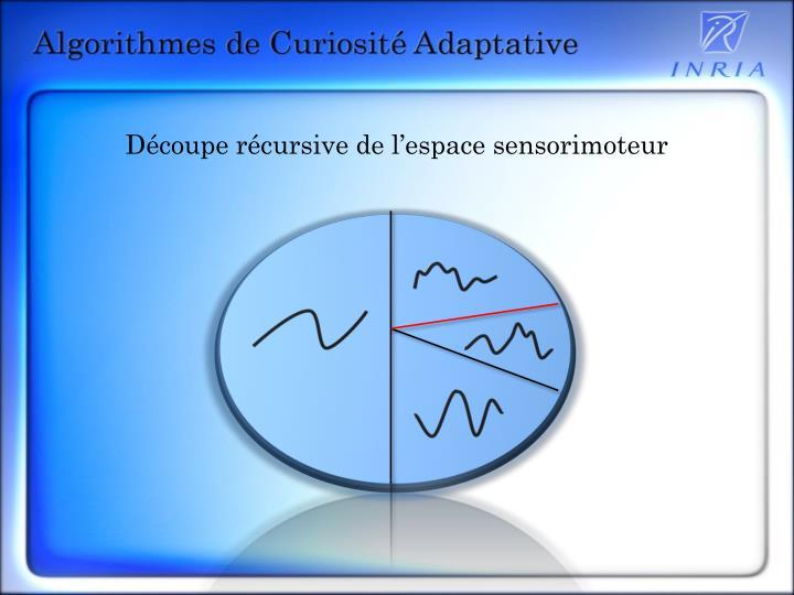 Découpe récursive de l'espace sensorimoteur