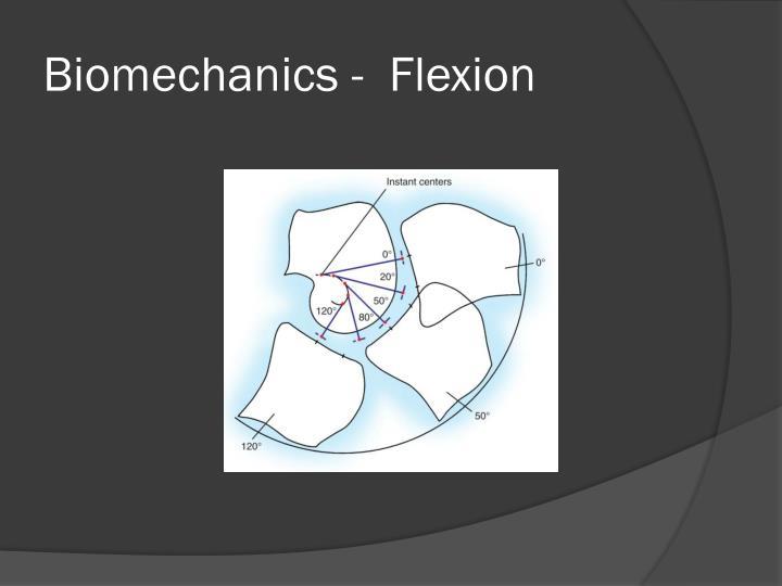 Biomechanics -  Flexion
