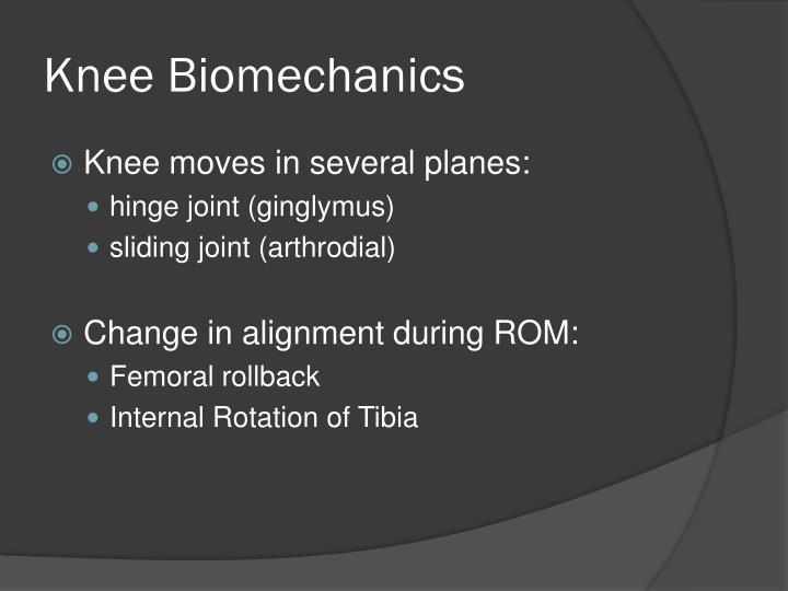 Knee Biomechanics