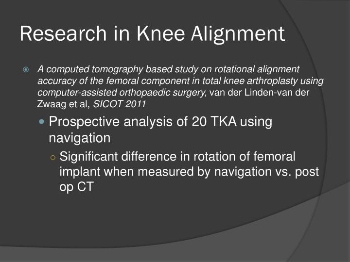 Research in Knee Alignment