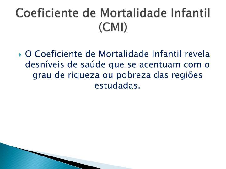 Coeficiente de Mortalidade Infantil