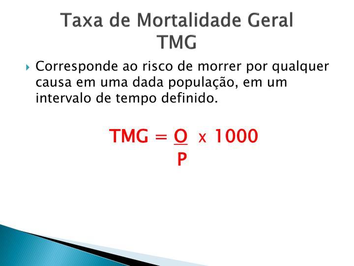 Taxa de Mortalidade Geral