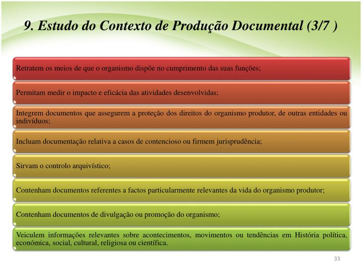 9. Estudo do Contexto de Produo Documental (3/7