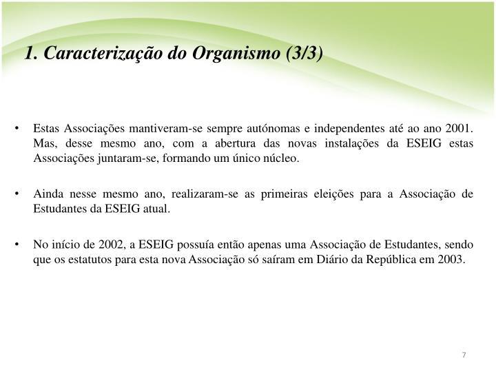 1. Caracterizao do Organismo (3/3)