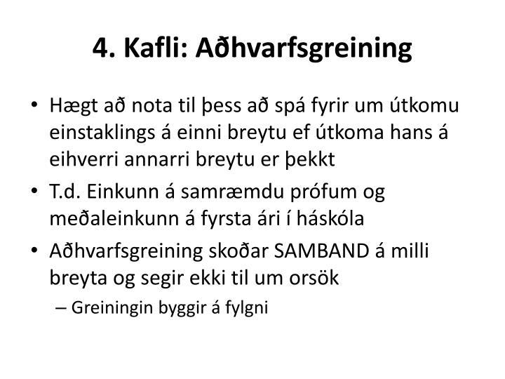 4. Kafli: Aðhvarfsgreining