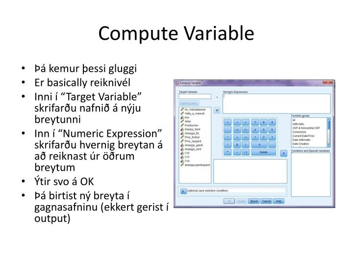 Compute Variable