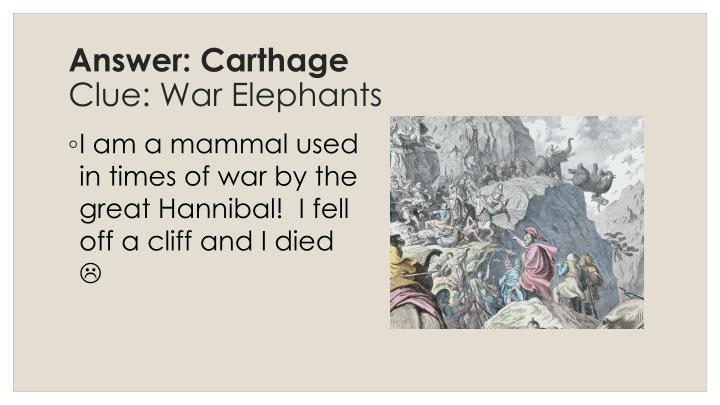Answer: Carthage