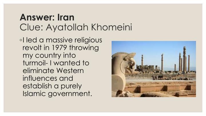 Answer: Iran