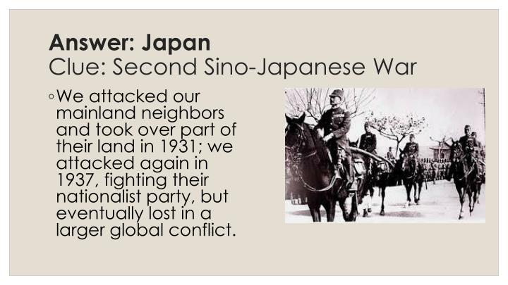 Answer: Japan