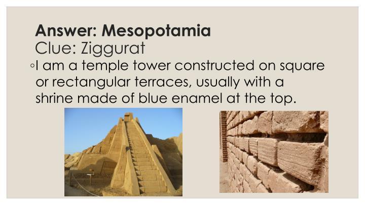 Answer: Mesopotamia