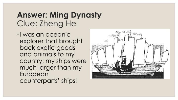Answer: Ming Dynasty