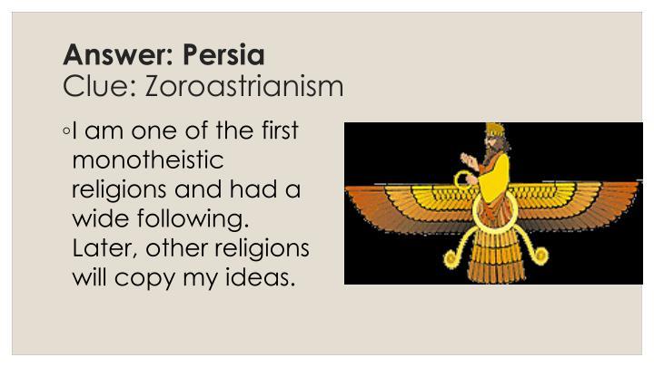 Answer: Persia
