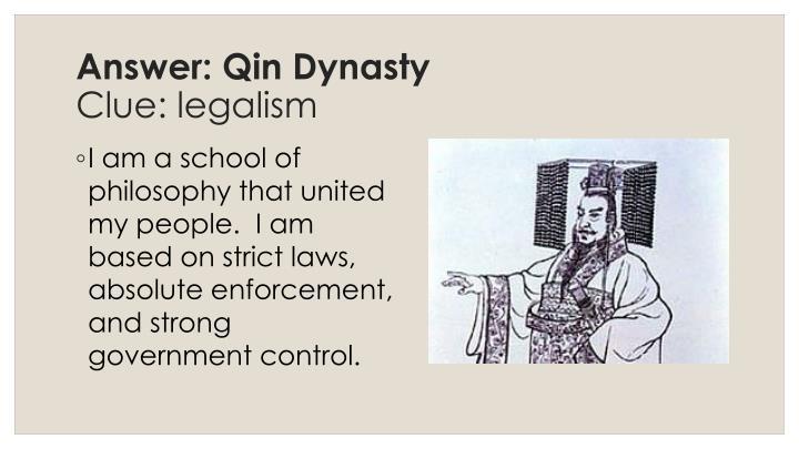 Answer: Qin Dynasty