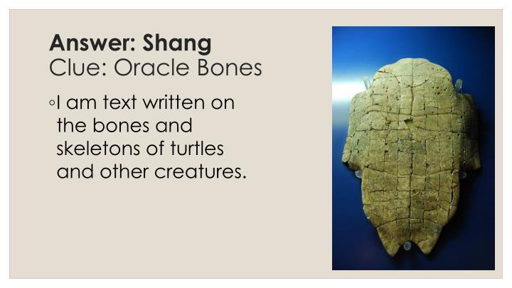 Answer: Shang
