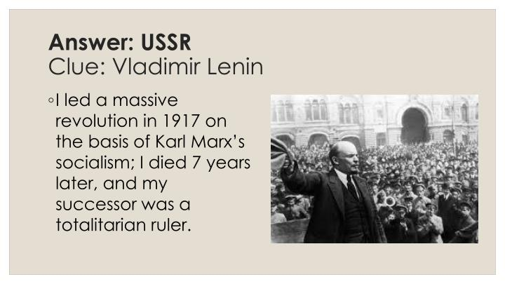 Answer: USSR