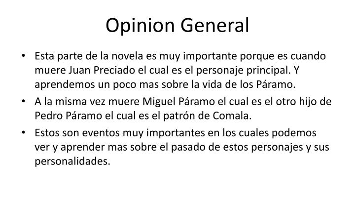 Opinion General