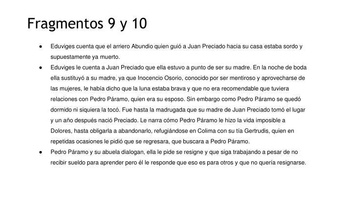 Fragmentos 9 y 10