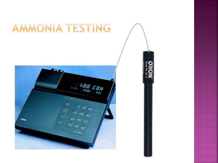 Ammonia Testing