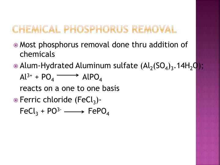 Chemical Phosphorus Removal