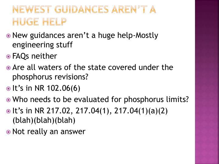 Newest guidances aren't a huge help