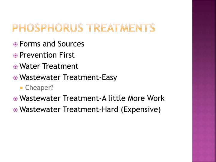 Phosphorus Treatments