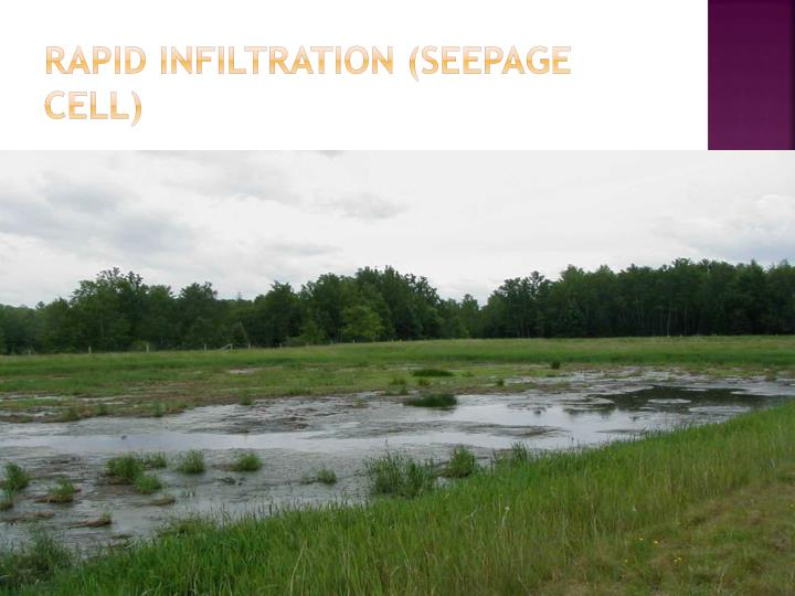 Rapid Infiltration (Seepage Cell)