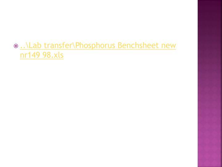 ..\Lab transfer\Phosphorus