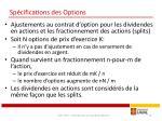 sp cifications des options3