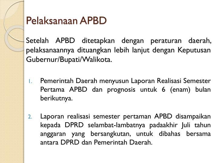 Pelaksanaan APBD