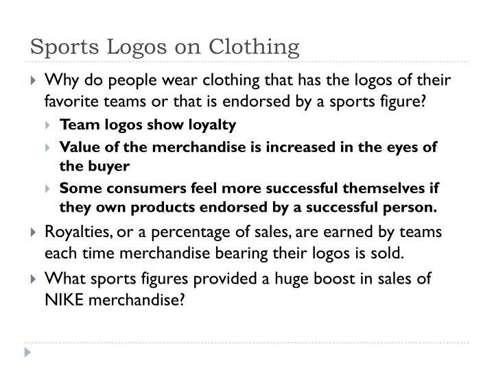 Sports Logos on Clothing
