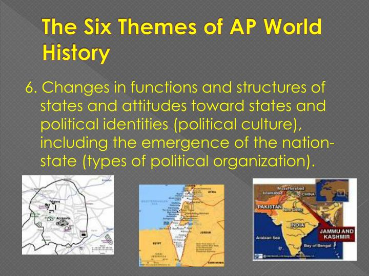 The Six Themes of AP World History